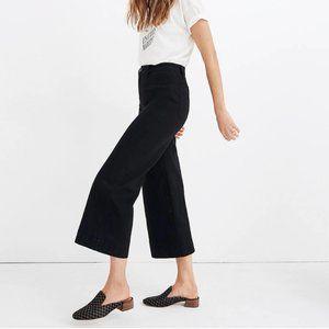 NWT Madewell Emmett Wide-Leg Crop Pants Black (23)